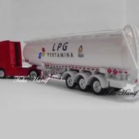 Diecast Miniatur Replika Truck Tanki LPG Pertamina
