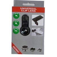 Jual Universal Clip Lens 3 in 1 (Macro, Wide, Fish Eye) Murah