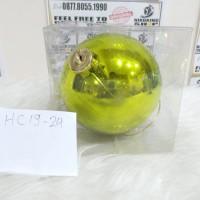 harga Hc19-24.hjm Bola Hijau Muda 12cm Hiasan Dekorasi Pohon Natal Christmas Tokopedia.com