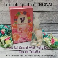 anna sui secret wish fairy dance miniatur perfume parfum original