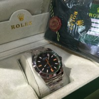 harga Jam Replika Rolex Milgauss Green Sapphire Steel Black Ultimate Clone Tokopedia.com