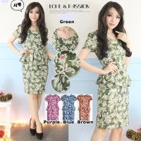 BATIK BODYCON PEPLUM DRESS 9798AUW