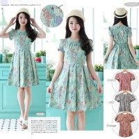 DUSTY SONGKET BATIK PLEATED DRESS 6698AUW