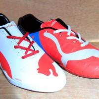 harga Sepatu Futsal Puma EvoPower Putih Merah Sol 2 Warna (Futsal-Bola-Sport Tokopedia.com