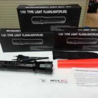 Stungun Police Swat 1101 (Alat Setrum) + Senter Light Flashlight