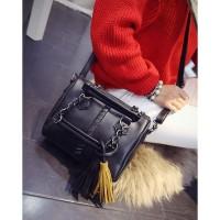 tas tangan jinjing reuni arisan artis cantik cyllinder wanita hitam pu