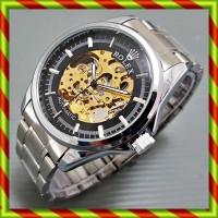 harga Rolex Skeleton Balok Silver Hitam | Jam Automatic Omega Tag Heuer Tokopedia.com