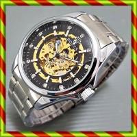 harga Rolex Skeleton Diamond Balok Besar Silver Hitam | Jam Automatic Omega Tokopedia.com