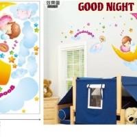 Wall Sticker Glow In The Dark 60x90 ABQ 9622Y Good Night