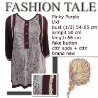 blouse batik cardigan marun 2 in 1 look-alike To Be Collection sz.XL