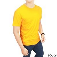 Kaos Polos Kuning Kenari  POL 06