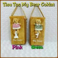 harga Tempat Tisu Model Tas Gantung MY BEAR Coklat Tokopedia.com