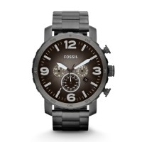 Fossil JR1437 - Nate Chronograph Smoke Stainless Steel Watch