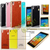 Jual Metal Bumper Leather Case Lenovo A7000 Special Edition