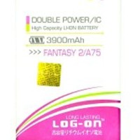Baterai Double Power Log on MITO FANTASY 2 A75 Batre Batere Battery