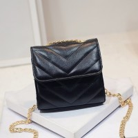 521121 tas pesta mini chanel garis salur rantai leather chain paarty