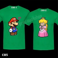 harga Super Mario Bros & Princess Peach Love | Kaos Couple | Family T-shirt Tokopedia.com