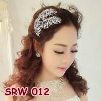 Jual Sirkam Sanggul Daun Wedding l Aksesoris Rambut Pesta Pengantin-SRW 012 Murah
