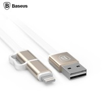 Baseus Dual-Port Pro Series 2 In 1 Micro USB & 8 Pin Metal Head USB
