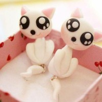 harga anting kucing putih pussy cat clay Tokopedia.com