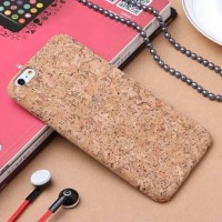 NATURAL CORK WOODEN CASE/CASING HP IPHONE 6/6S PLUS-SOFTCASE IPHONE6+