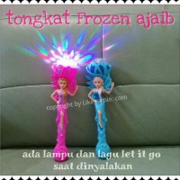 Tongkat Lampu Musik Disco Frozen Elsa | Isi Lagu Let It Go