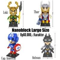Nanoblock Loz avenger ( figure topeng boneka tas ransel brick kaos )