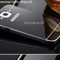 """CASE SAMSUNG GALAXY MEGA 5""""8 Aluminium bumper + pc mirror backcover"""