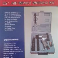 "Air Impact Wrench 1/2"" set Murah"