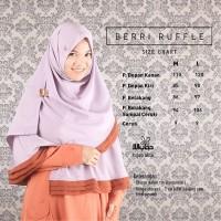 Berry Ruffle Ungu Bata | Hijab Alila