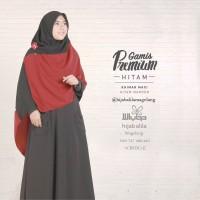 Khimar Maxi Hitam Maroon | Hijab Alila