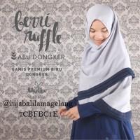 Berry Ruffle Abua Dongker ( L ) | Hijab Alila