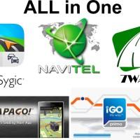 GPS Android ALL in One (SYGIC + Navitel + Papago + 7Ways + Igo Primo)