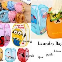 Laundry bag / Laundry Bag Character / tempat baju kotor .