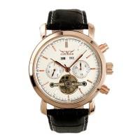 ESS Luxury Men Leather Strap Automatic Mechanical Watch - WM299 - Blac