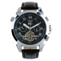 ESS Luxury Men Leather Strap Automatic Mechanical Watch - WM181 - Blac