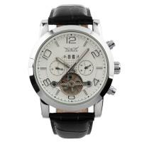 ESS Luxury Men Leather Strap Automatic Mechanical Watch - WM261 - Blac