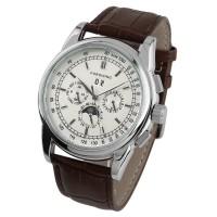 ESS Luxury Men Leather Strap Automatic Mechanical Watch - WM398 - Blac