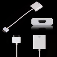 Cable Dock Connector to AV HDMI Adaptor Converter for Ipad 2 / 3