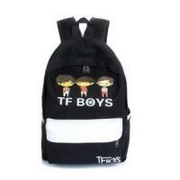 BACKPACK IMPORT KOREA BP265 / TAS RANSEL TF BOYS BLACK
