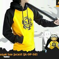 Jaket sweater trafalgar law kuning hitam