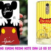 Paket casing Xiaomi redmi note dan LG G3 Stylus custom phone case