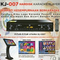 DVD PLAYER KARAOKE KJB KJ 007 + Layar Touch Screen 19 Inch