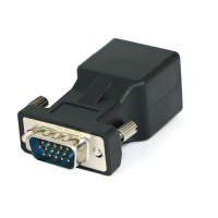Connector VGA to RJ45 VGA Male TO RJ45 extender VGA M set adapter AB86