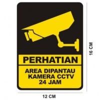 Stiker Label CCTV 12X16cm bahan vinyl