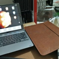 Bluetooth Smart Keyboard for iPad Pro with Brown Leather Clutch/Case