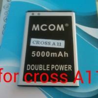 baterai cross A11 double power merk mcom