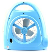 KMS Multifunction Rechargeable 29-LED White Light Fan Lamp - KM-686