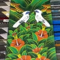 harga Lukisan  Burung  latar belakang Bunga Kembang Sepatu Tokopedia.com