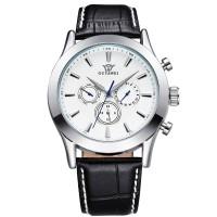 Ouyawei Luxury Men Leather Strap Automatic Mechanical Watch - OYW1333-